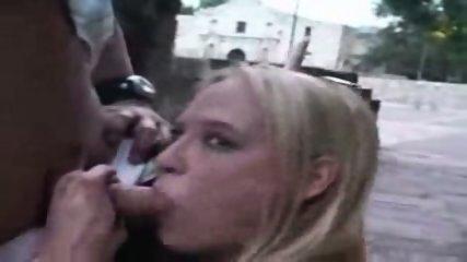 Public - Guy fucks blond in public - scene 2