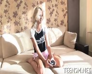 Cute Teen Is Hard Nailing Action - scene 1