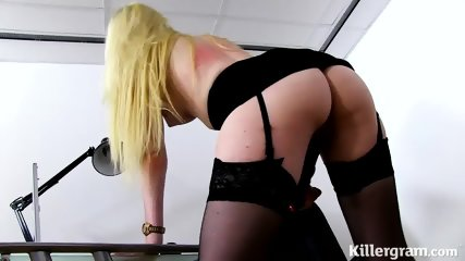 Vulgar Bitch With Glasses Plays With Dildo - scene 11