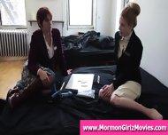 Teen Mormon Lesbians Lick Pussy In Underwear - scene 2