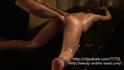 Young girl geting masage, she comes many time s