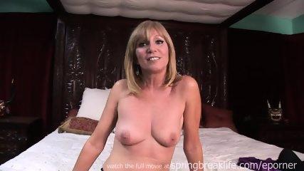 Milf Gets Naked On Her Bed - scene 8