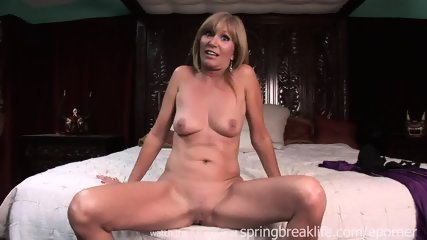 Milf Gets Naked On Her Bed