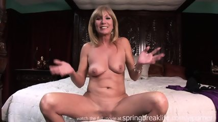 Milf Gets Naked On Her Bed - scene 12