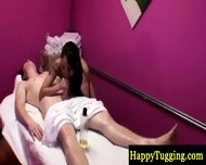 Asian Masseuse Riding Clients Dick - scene 1