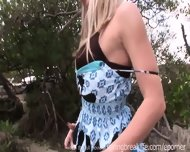 Hot Blonde Gets Naked Outdoors - scene 8