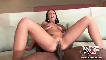 Busty Lady Plays With Big Dildo And Big Black Dick - scene 10