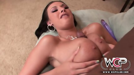 Busty Lady Plays With Big Dildo And Big Black Dick - scene 12
