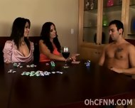 Naughty Babes Cheat At Strip Poker - scene 1