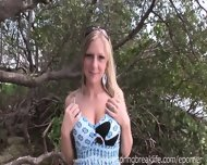 Blonde Gets Naked By The Beach - scene 1