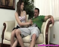 Amateur Hand Job Babe With Glasses Jerks - scene 1