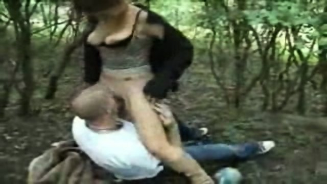 Dutch chick fucked in the woods