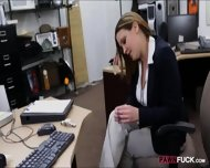 Foxy Business Lady Fucked By Pawnkeeper Inside The Office - scene 3