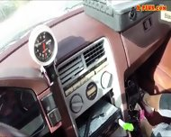 Blonde Bimbo Gives A Road Head While Test Driving Her Car - scene 8
