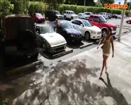 Blonde Bimbo Gives A Road Head While Test Driving Her Car - scene 2