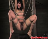 Tied Up Vivi Marie Hairy Clit Clamped - scene 2