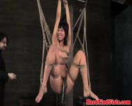 Tied Up Vivi Marie Hairy Clit Clamped - scene 6