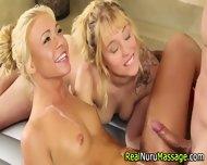 Nuru Massage Threesome - scene 12