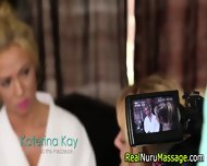 Nuru Massage Threesome - scene 2