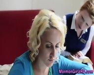 Lesbian Mormon Fingered - scene 1