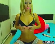 Webcam Sexy Blonde In White Stockings - scene 10