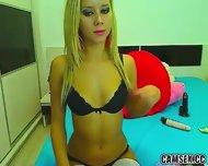 Webcam Sexy Blonde In White Stockings - scene 7