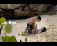 Brutally Hot Lovers Sex On The Beach - scene 1