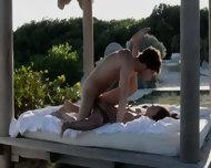 Exotic Teenie Making Love In The Gardens - scene 11