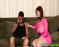 Redhead Masseuse Swallows - scene 2
