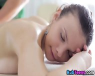 Oily Erotic Teen Massage - scene 12