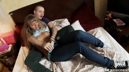 Teenage Blonde Enjoys Sex - scene 2
