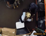 Two Lesbians Girls Pawned Their Asses At The Pawnshop - scene 4