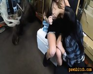 Two Lesbians Girls Pawned Their Asses At The Pawnshop - scene 6