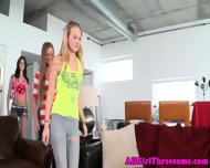Teen Lesbo Beauties Threeway Get Naughty - scene 4