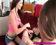 Teen Lesbo Beauties Threeway Get Naughty - scene 7