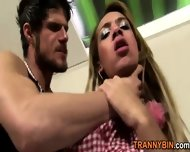 Raw Breeding Blonde Tranny - scene 2