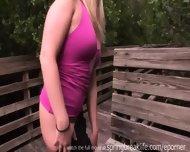 Cute Blonde Naked In Public - scene 2
