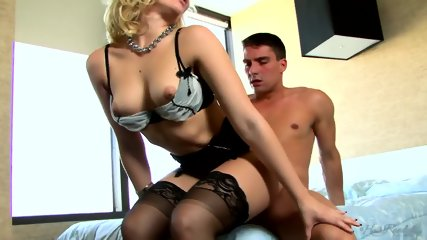 Slut Rammed On Bed - scene 4