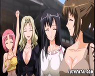 Four Anime Girls Decided To Relax In Village - scene 4