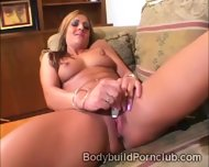 Stunning Big Boobed Model Masturbates With A Huge Toy - scene 4