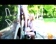 Beautiful Blonde Teen Sucks An Old Mans Dong Outdoor - scene 3