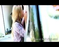 Beautiful Blonde Teen Sucks An Old Mans Dong Outdoor - scene 4