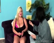 Chubby Chick With Massive Natural Boobs Seduces A Horny Geek - scene 2