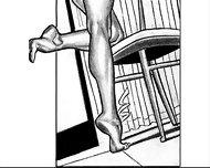 Nude Catherine Zeta Jones Foot Fetish Striptease Milf Comic - scene 10