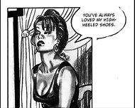 Nude Catherine Zeta Jones Foot Fetish Striptease Milf Comic - scene 3