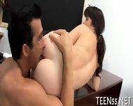 Pretty Teen Rides Massive Cock - scene 9