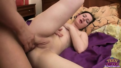 Cum On Horny Teen's Face After Anal Sex