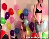 Lesbians Kissing In Amateur Party Game - scene 2