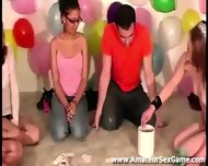 Lesbians Kissing In Amateur Party Game - scene 4