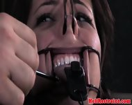 Kinkysex Sub Has Her Mouth Clamped Open - scene 5